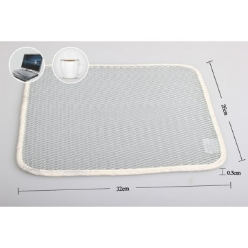 Spacer fabric white laptop pad