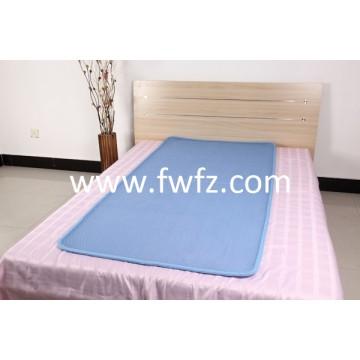 Spacer fabric blue mattress pad