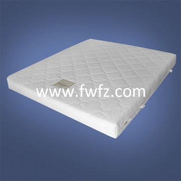 Spacer fabric mattress white with quilted pattern of cloud