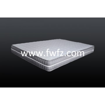 Spacer fabric mattress grey with quilted pattern of diamond
