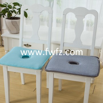 Spacer fabric grey seat cushion with hole