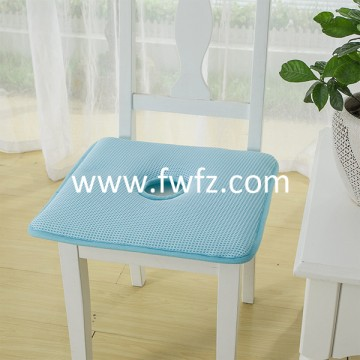 Spacer fabric blue seat cushion with hole