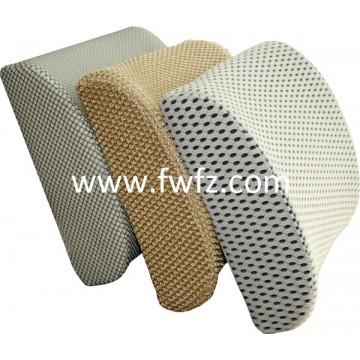 Memory foam lumbar back cushion with mesh fabric cover