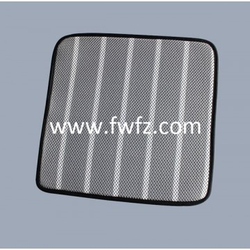 Stripe pattern spacer fabric seat cushion with anti-skip silicone on the back
