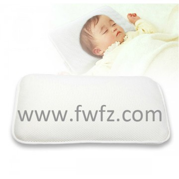 Spacer fabric white baby pillow