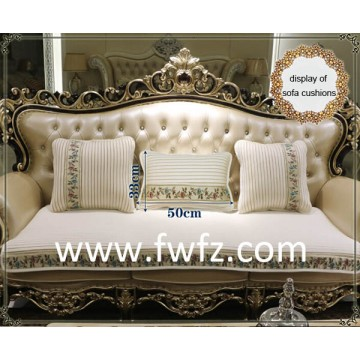 Spacer fabric luxury sofa pad and cushions