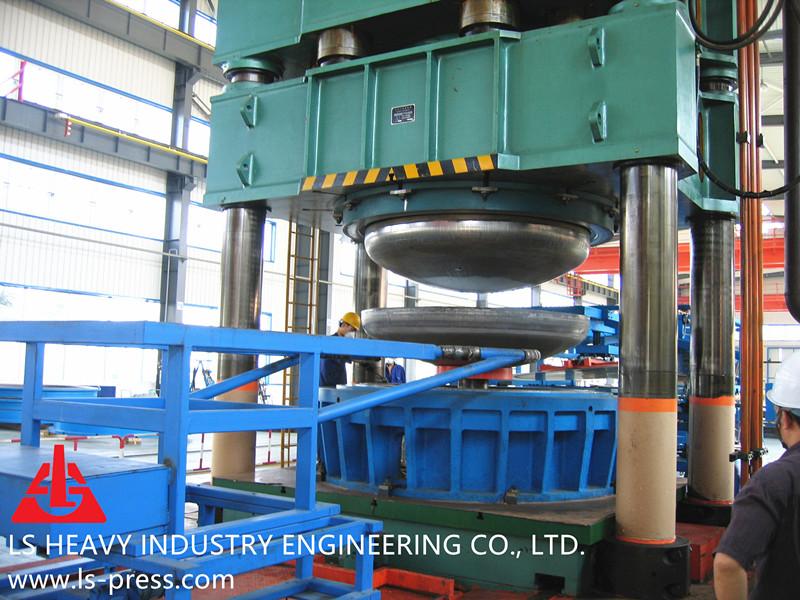 40MN Dished Head Hydraulic Press,