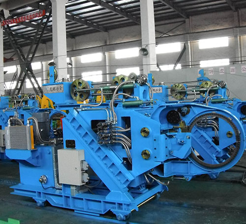 Steel bar bundling machine,