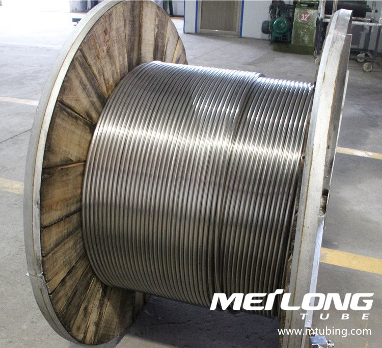 ASTM A789 S32750 Stainless Steel Coiled Chemical Injeciton Line Tubing,