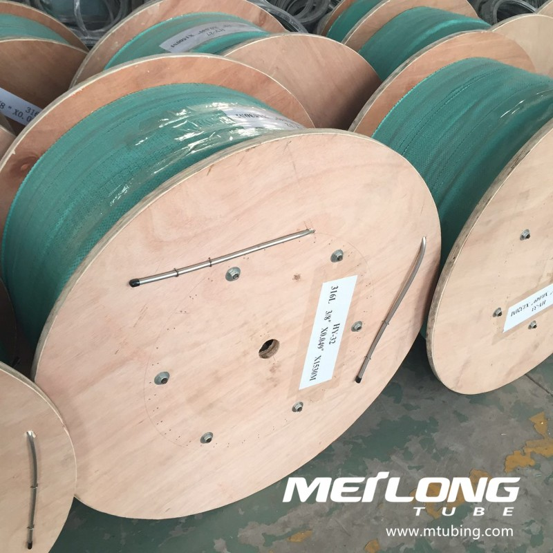 S31603 downhole capillary coiled tubing,